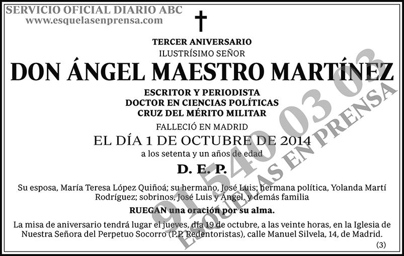 Ángel Maestro Martínez